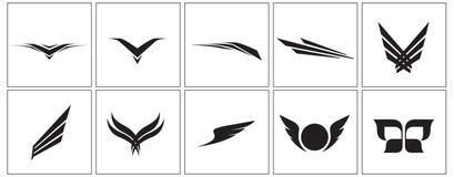 De pictogrammen van de vleugel Royalty-vrije Stock Foto's