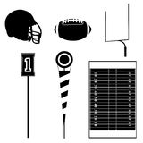De pictogrammen van de voetbal Stock Foto