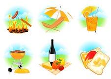 De pictogrammen van de vrije tijd Stock Afbeeldingen