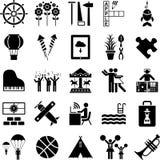 De pictogrammen van de vrije tijd Royalty-vrije Stock Foto's