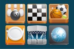 De pictogrammen van de vrije tijd Royalty-vrije Stock Fotografie