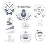De pictogrammen van de vrouwens Dag Royalty-vrije Stock Afbeeldingen