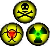 De pictogrammen van de waarschuwing stock illustratie