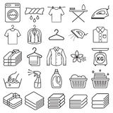De pictogrammen van de wasserijdienst Vector vector illustratie