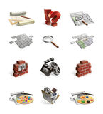 De pictogrammen van de website Stock Afbeeldingen