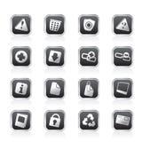 De Pictogrammen van de website en van de computer Royalty-vrije Stock Afbeeldingen
