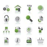 De pictogrammen van de website en van Internet Stock Fotografie