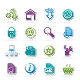 De pictogrammen van de website en van Internet Royalty-vrije Stock Afbeeldingen