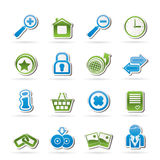 De pictogrammen van de website en van Internet Royalty-vrije Stock Foto's