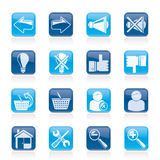De pictogrammen van de website en van Internet Stock Afbeelding