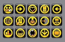 De pictogrammen van de website en van Internet Royalty-vrije Stock Fotografie
