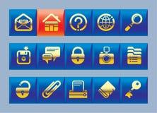 De pictogrammen van de website en van Internet Stock Foto