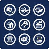 De pictogrammen van de website en van Internet (plaats 2, deel 1) Royalty-vrije Stock Afbeeldingen