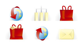 De pictogrammen van de website en van Internet   T.U.P.O. kleur Vector Illustratie