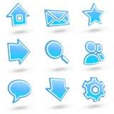 De pictogrammen van de website plaatsen 01: glas Stock Afbeeldingen