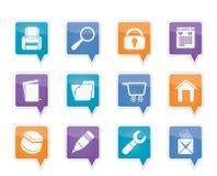 De pictogrammen van de website, van Internet en van de computer Royalty-vrije Stock Afbeeldingen