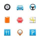 De pictogrammen van de weg Royalty-vrije Stock Foto's