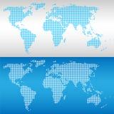 De pictogrammen van de wereldkaart geplaatst voor om het even welk gebruik groot Vector eps10 Royalty-vrije Stock Foto's