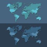 De pictogrammen van de wereldkaart geplaatst voor om het even welk gebruik groot Vector eps10 Royalty-vrije Stock Afbeelding