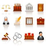 De pictogrammen van de wet Stock Fotografie