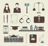 De pictogrammen van de wet Royalty-vrije Stock Foto's