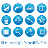 De pictogrammen van de wet en van de orde Royalty-vrije Stock Foto's