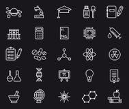 De pictogrammen van de wetenschap Royalty-vrije Stock Foto's