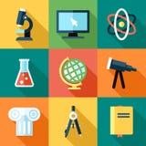 De pictogrammen van de wetenschap Stock Afbeelding