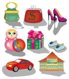 De pictogrammen van de winkel Stock Foto