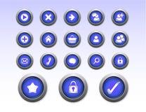 De Pictogrammen van de Winkel van het Web royalty-vrije illustratie