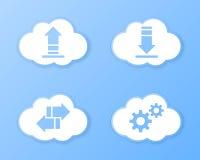 De pictogrammen van de wolkenopslag Royalty-vrije Stock Fotografie