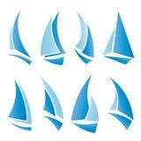 De pictogrammen van de zeilboot Royalty-vrije Stock Foto