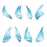 De pictogrammen van de zeilboot Royalty-vrije Stock Fotografie