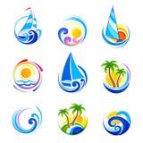 De pictogrammen van de zomer Royalty-vrije Stock Fotografie