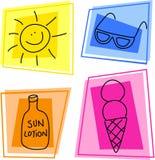 De pictogrammen van de zomer royalty-vrije illustratie