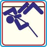 De pictogrammen van de zomersporten - polsstokspringenpictogrammen Vector Royalty-vrije Stock Foto's