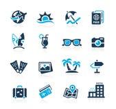 De Pictogrammen van de zomervakanties - Azure Series Stock Foto
