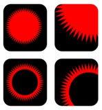 De pictogrammen van de zon Royalty-vrije Stock Foto