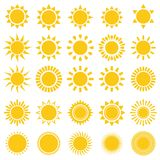 De pictogrammen van de zon Royalty-vrije Stock Afbeeldingen