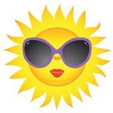 De pictogrammen van de zon. Vector illustratie Royalty-vrije Stock Afbeelding