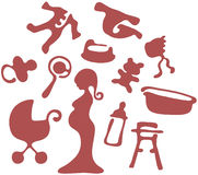 De pictogrammen van de zwangerschap Stock Fotografie