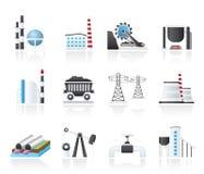 De pictogrammen van de zware industrie Stock Afbeelding