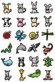 De pictogrammen van dieren Royalty-vrije Stock Fotografie