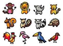De pictogrammen van dieren Vector Illustratie