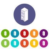De pictogrammen van de dossiergarderobe geplaatst vectorkleur Royalty-vrije Stock Afbeelding