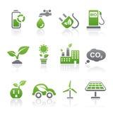 De pictogrammen van Eco Royalty-vrije Stock Foto