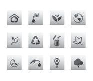 De pictogrammen van Eco Stock Foto