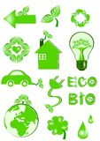 De pictogrammen van Eco stock illustratie