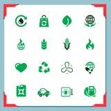 De pictogrammen van Eco | In een frame reeks Royalty-vrije Stock Foto