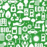 De pictogrammen van de ecologie Stock Fotografie
